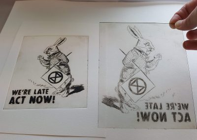 Printmaking - XR White Rabbit