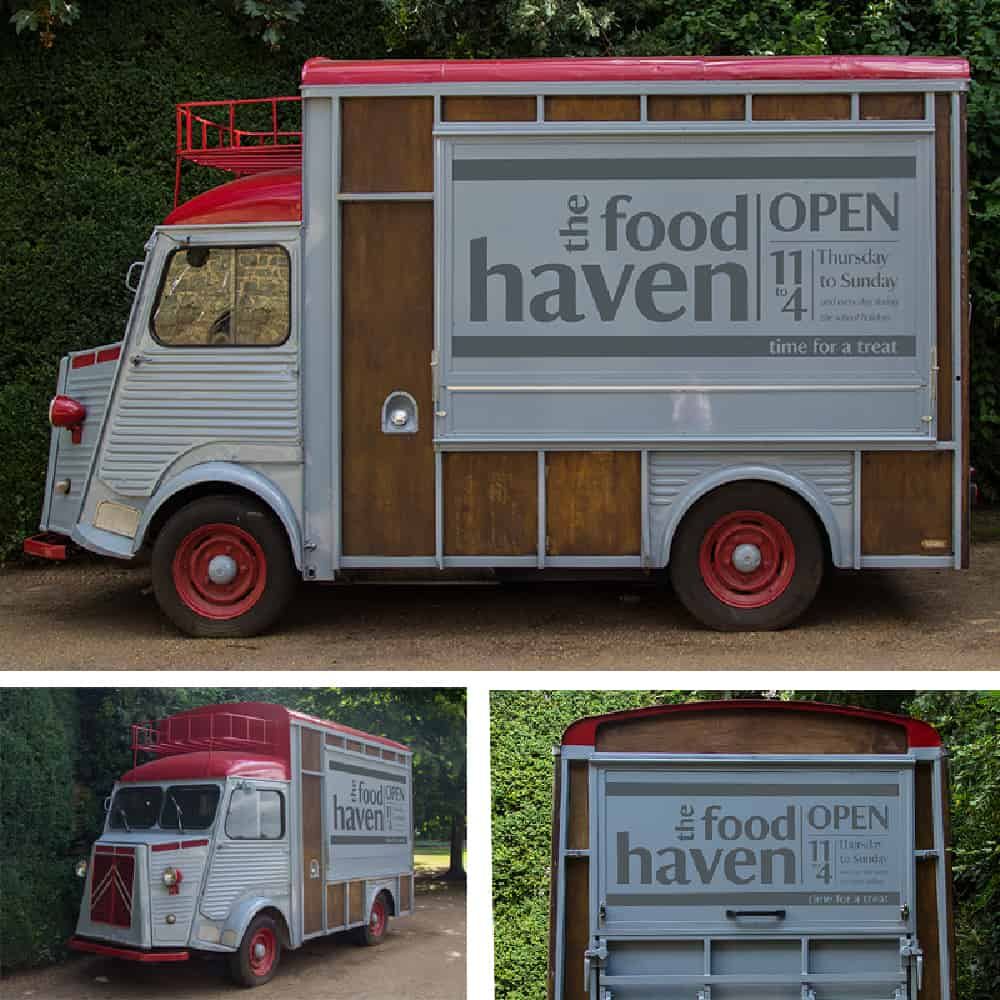 Food Haven van graphics for National Trust