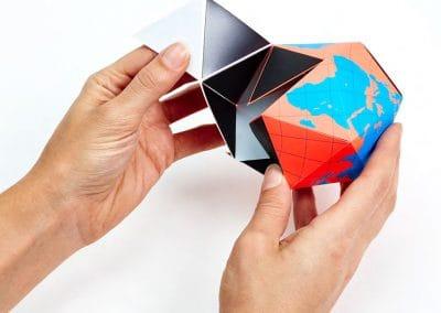 A 3D model Dymaxion map